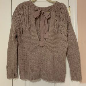Aerie Ribbon Open-Back Sweater